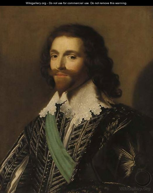 Portrait of George Villiers (1592-1628), 1st Duke of Buckingham - (after) Daniel Mytens