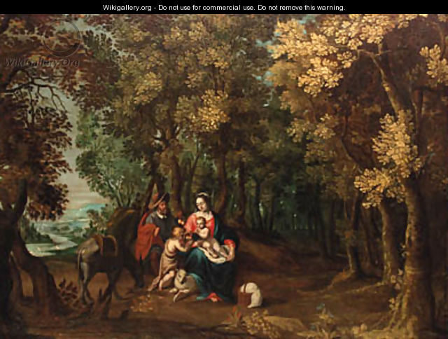 The Rest on the Flight into Egypt - (after) David Vinckboons I