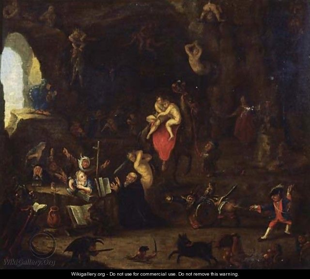 The Temptation of Saint Anthony 2 - (after) David The Younger Teniers