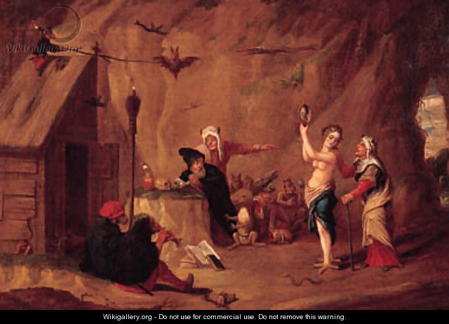 The Tempation of Saint Anthony - (after) David The Younger Teniers