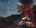 The departure of Aeneas - (after) Domenichino (Domenico Zampieri)