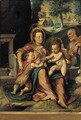 The Holy Family with the infant St. John The Baptist - (after) Denys Calvaert
