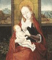 The Virgin and Child, a landscape beyond - (after) Dieric The Elder Bouts