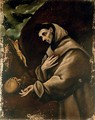 Saint Francis in prayer - (after) El Greco (Domenikos Theotokopoulos)