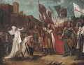 King Richard I receiving the keys to the port city of Acre - (after) Benjamin Robert Haydon