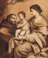 The Madonna and Child with Saint Francis - en grisaille - (after) Carlo Maratta Or Maratti