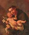 Saint Francis holding the Infant Christ - (after) Carlo Francesco Nuvolone