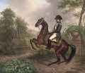 Napolean on horseback in an Italianate landscape - (after) Carle Vernet