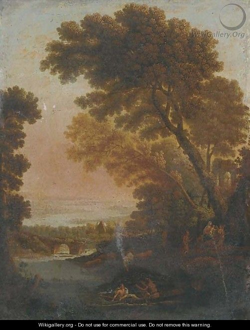 The Rest on the Flight into Egypt - (after) Claude Lorrain (Gellee)