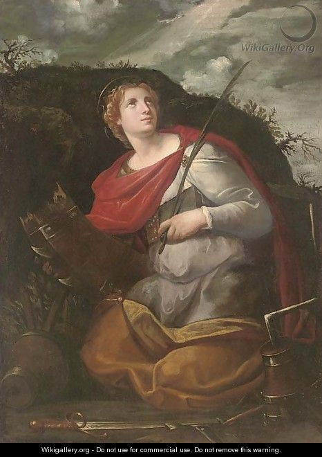 Saint Catherine of Alexandria - (after) Alessandro Turchi (Orbetto