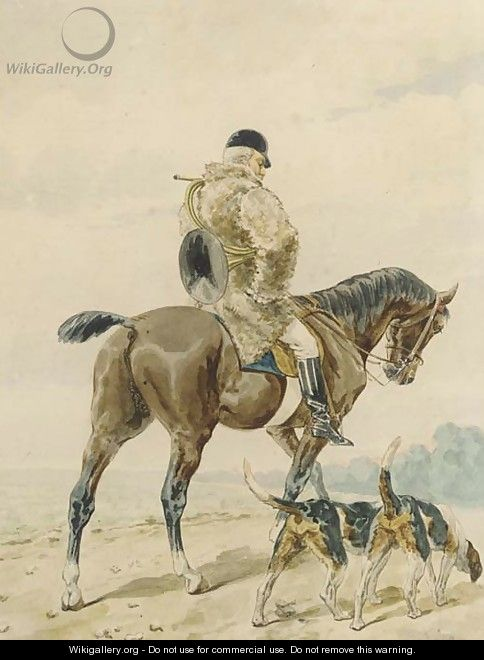 Out hunting - (after) Alfred Dedreux