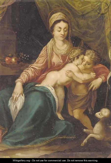 The Madonna and Child with the Infant Saint John the Baptist - (after) Annibale Carracci