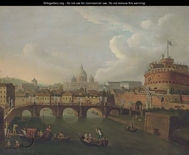 The Tiber, Rome, looking towards the Ponte Sant