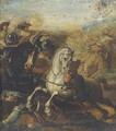 A cavalry charge - (after) Antonio Calza