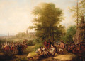 Cavaliers Conversing In A Woodland Landscape - Dutch School