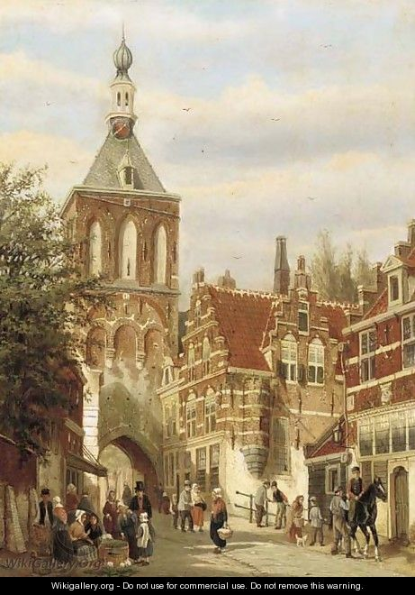 A Dutch street market - Dutch School