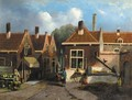 A view in a village - Dutch School