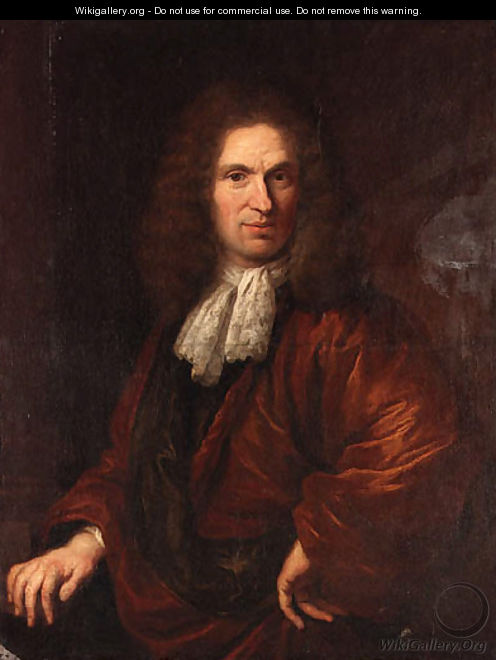 Portrait of a Gentleman, half-length, in a brown coat - Dirck Maas