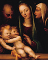 The Holy Family with the Infant Saint John the Baptist and Saint Catherine of Siena - Domenico Beccafumi