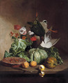 Fruit, flowers and game - David Emil Joseph de Noter