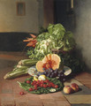 A kitchen still life - David Emil Joseph de Noter