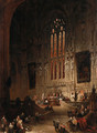 Chancel of the Church of St. Rombauld, Tirlemont, Flanders - David Roberts