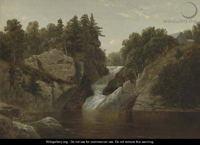 Waterfall at Norwich, Connecticut - David Johnson