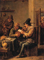 Boors making music in a tavern - David III Teniers