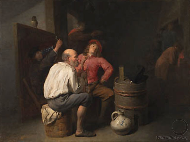 Peasants smoking and drinking in an inn - David The Younger Ryckaert