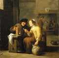 Peasants smoking and drinking in a tavern - David III Teniers