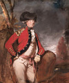 Portrait of Charles, 1st Marquis Cornwallis (1738-1805), three-quarter-length, in uniform, holding a cane in his left hand, in a landscape - Daniel Gardner