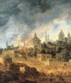 The Burning of Troy - Daniel van Heil