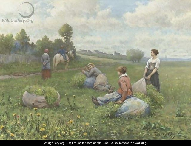 The Harvest - Daniel Ridgway Knight