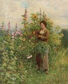 In the Flower Garden - Daniel Ridgway Knight