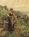 In a Normandy Garden - Daniel Ridgway Knight