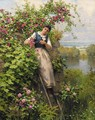 Cutting the Roses - Daniel Ridgway Knight