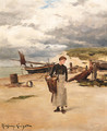 At Etretat - Daniel Ridgway Knight