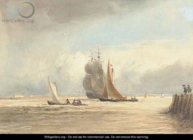 Shipping off Gravesend - David Cox