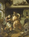 An alchemist's workshop - Cornelis De Man