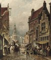 Quartier Juif a view of the Jewish quarter with the Oudeschans and the Montelbaanstoren, Amsterdam - Cornelis Christiaan Dommersen
