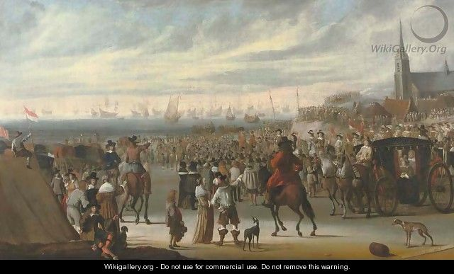The Departure of King Charles II from Scheveningen on the 24 May 1660 - Cornelis Beelt