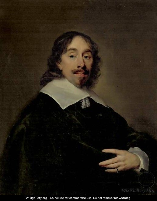 Portrait of Thomas Cletcher, half-length - Cornelius Janssens van Ceulen