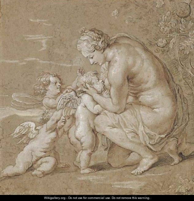 Venus suckling putti - Cornelis Galle