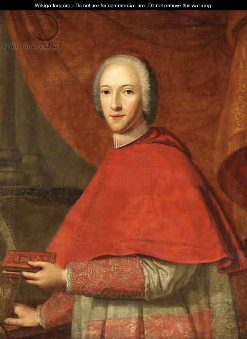 Portrait of Cardinal of York (1725-1807), half-length, in Cardinal