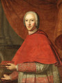Portrait of Cardinal of York (1725-1807), half-length, in Cardinal's Robes, holding a prayer book in his left hand, his mitre in his right hand - Cosmo Alexander