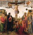 The Crucifixion with the Madonna, Saints John the Baptist, Mary Magdalen, Andrew and Francis - Cosimo Rosselli