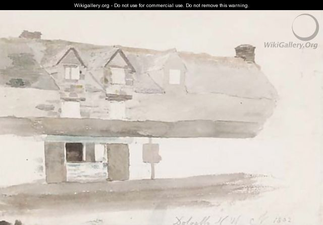 Study of a house in Dolgelly, North Wales - Cornelius Varley