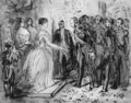 Queen Isabella of Spain receiving military officers - Constantin Guys