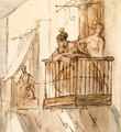 Ladies on the Balcony - Constantin Guys