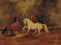 Duncan's Horses, a scene from Macbeth - Claude L. Ferneley